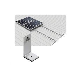 Structura din aluminiu pentru 4 panouri fotovoltaice montate pe verticala, pentru acoperis din tabla pret iefitn 8