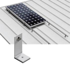 Structura din aluminiu pentru fixarea unui panou fotovoltaic monocristalin sau policristalin pe orizontala pe acoperisurile inclinate din tabla pret ieftin