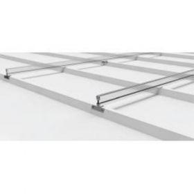 Structura robusta din aluminiu pentru prinderea unui panou fotovoltaic dispus pe orizontala cu sistem de prindere pe acoperisurile din tabla cutata pret ieftin 2