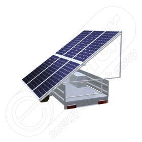 Remorca solara generator fotovoltaic mobil IDELLA Mobile Energy IME 6, pentru aplicatii agricole sau santiere temporare, cu 6 module solare de inalta calitate IDELLA Power Poly IPP 550W