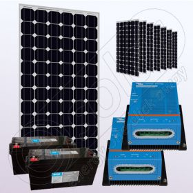 Kit fotovoltaic monocristalin rezidentiale IPM200Wx8-VICMPPT40Ahx2-150Ahx2