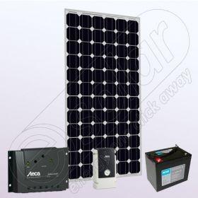 Kit fotovoltaic solar stand alone cu invertor IPM200W-550W-8.8F-8A-76Ah