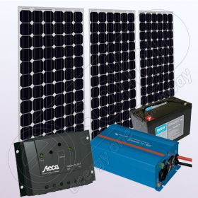 Kit solar fotovoltaic stand alone cu invertor IPM200Wx3-800W-PRS2020-20Ah-89Ah