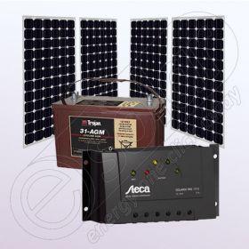 Kituri fotovoltaice monocristaline IPM200Wx4-Tarom235-35Ah-100Ah