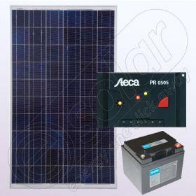 Sistem solar electric independent rezidential IPP100W-12V-5A-33Ah