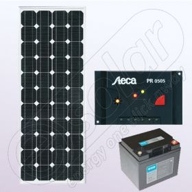 Sistem solar fotovoltaic stand alone IPM100W-12V-5A-33Ah