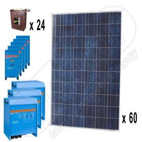 Kit solar off-grid trifazat de 15kW putere instalata