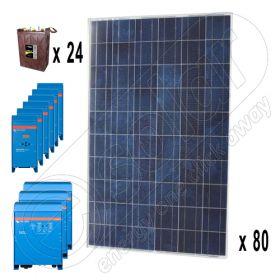 Sistem solar off-grid trifazat de 20kW putere instalata