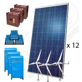 Kit hibrid off-grid cu turbine eoliene 5000W-Hi-MTT