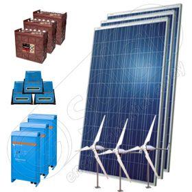 Kituri solare hibride off-grid cu eoliene 3000W-Hi-MTT