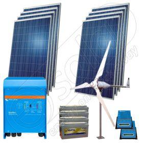 Sistem solar hibrid cu eoliana 3KW-Hi-QVM