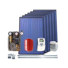 Kit cu 6 panouri solare IFST 2.08 pentru incalzirea apei menajere pe toata perioada anului