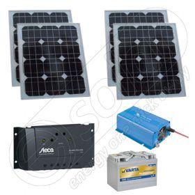 Kit fotovoltaic incarcator mobil 220V 400Wh