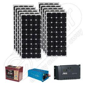Kituri solare fotovoltaice pentru excursii 220V 2.6kWh