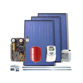 Pachet solar fara boiler cu 3 panouri solare plane IFST 2.08