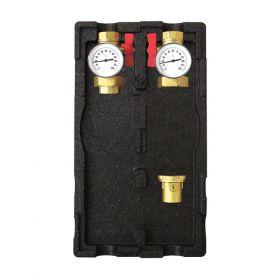 Circuit de incalzire 7 fara pompa cu doua robinete cu bila