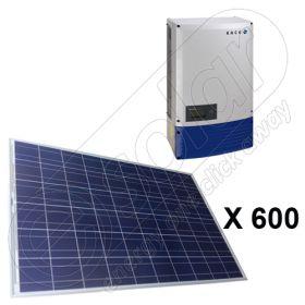 Panouri fotovoltaice kit complet de 150 KW cu invertor on-grid 5x Powador 30.0