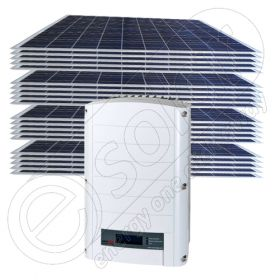 Panouri fotovoltaice set complet de 5 KW cu inverter on-grid de retea SE 4000-EUR