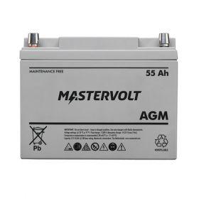 Baterii cu ciclu profund AGM 12 Volti-55 Amperi MasterVolt pentru instalatii fotovoltaice si eoliene