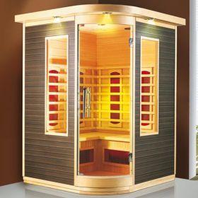 Cabina de sauna cu sistem de incalzire infrarosu