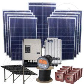 Instalatie fotovoltaica off-grid la cheie de 2.5kW putere instalata pentru zone rezidentiale