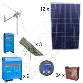 Instalatii eoliene si fotovoltaice pentru sisteme de irigare agricola si pomicula de 6kW si 3kW putere instalata