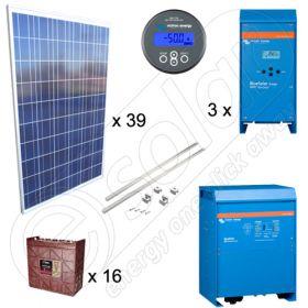 Instalatii fotovoltaice pentru irigatii agricole de 10kW putere instalata si montaj pentru acoperis inclinat