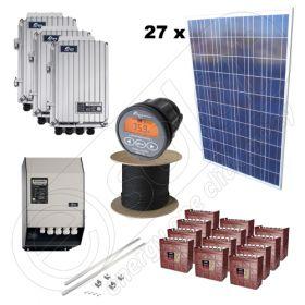 Kit cu celule fotovoltaice de 6.75kW putere instalata pentru energie electrica obtinuta economic cu manopera de instalare inclusa