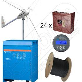 Kit off-grid cu turbina eoliana la cheie cu montaj inclus cu puterea de 6kW