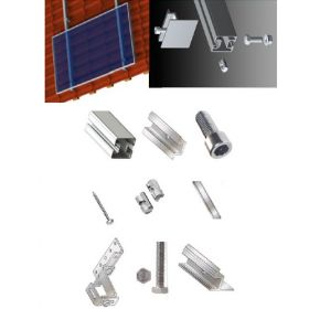 Kit structura de prindere panouri fotovoltaice 1kW putere instalata pentru acoperis inclinat din tabla sau tigla