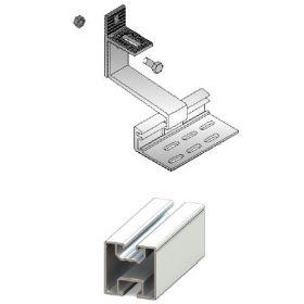 Kit structura de prindere panouri fotovoltaice 1kW putere instalata pentru acoperis inclinat din tabla sau tigla 2