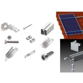 Kit structura de prindere panouri fotovoltaice pentru acoperis inclinat din tigla sau tabla de 10 kW putere instalata