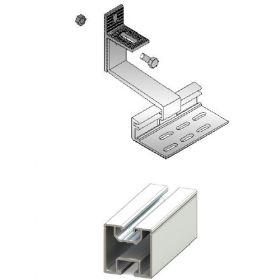 Kit suport panouri fotovoltaice pentru acoperis inclinat din tabla sau tigla de 3kW putere instalata