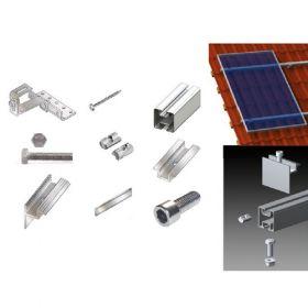 Kit suport panouri fotovoltaice pentru acoperis inclinat din tabla sau tigla de 3kW putere instalata 2