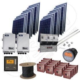 Kit trifazic complet la cheie cu panouri solare fotovoltaice de 4.5kW putere instalata