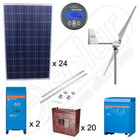 Kituri hibride pentru irigatii agricole cu 6kW solar 1.5kW eolian putere instalata