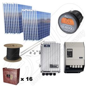 Kituri hibride sisteme fotovoltaice de 4.5kW si turbine eoliene de 600W putere instalata cu montaj inclus la cheie
