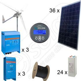 Kituri solare si eoliene hibride cu montaj inclus putere instalata 9kW PV si 6kW EOL