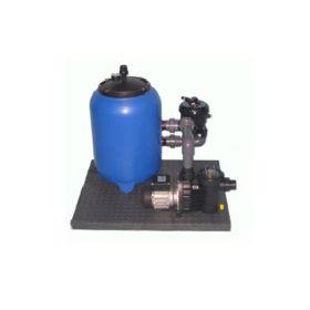 Sistem de filtrare cu nisip de cuart cu filtru recipient din polipropilena pentru piscina si bazin