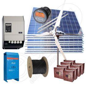Sisteme hibride off-grid la cheie cu panouri solare de 2.25kW putere instalata si turbine eoliene de 600W