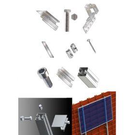 Structura pentru 24 de panouri solare de 6kW pentru acoperis inclinat din tigla sau tabla 4