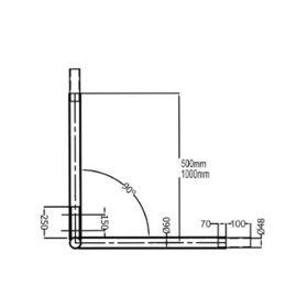 Brate duble 200 cm la 90° IDLSTPIB  200.3 pentru stalpi de iluminat solari fotovoltaici de inaltime ridicata pret ieftin