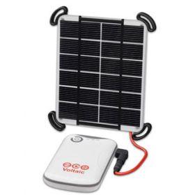 Kit fotovoltaic ieftin incarcator solar 2W cu panou monocristalin si baterie USB de 4000mAh pret ieftin