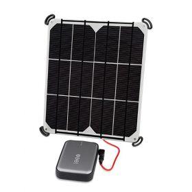 Kit incarcator solar fotovoltaic 9W rezistent si usor cu baterie solara V50 12,800mAh pret ieftin