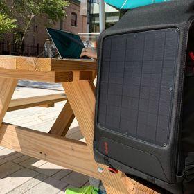 Rucsace solare cu panouri fotovoltaice Array de inalta performanta pentru laptop util in expeditii si practic pentru fotografi pret ieftin 7