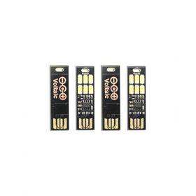 Set 4 USB Mini Light pentru orice tip de breloc compatibil cu acumulatorii solari V15 si V88 pret ieftin