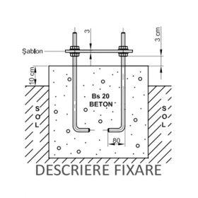 Set de 4 prezoane M16 IDLSTPI 7-8M + sablon pentru stalpi de iluminat public solar pret ieftin